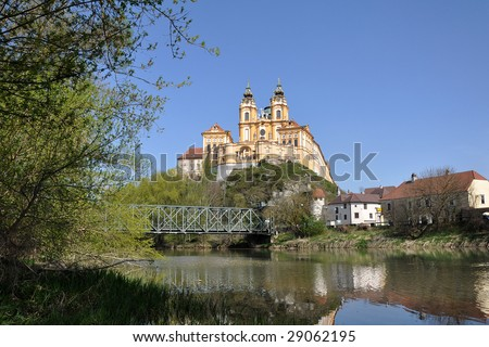 Beautiful monastery of Melk - stock photo