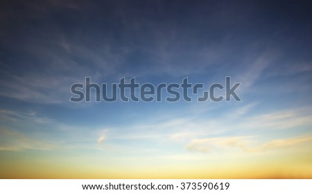 Beautiful morning sky - stock photo