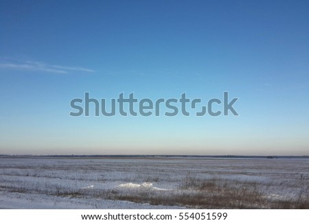 Beautiful morning winter landscape and blue sky/Beautiful morning winter landscape and blue sky/Beautiful morning winter landscape and blue sky