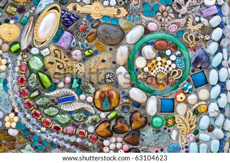 beautiful mosaic - stock photo