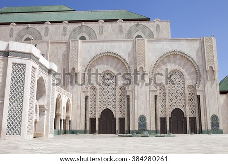 beautiful mosque Hassan second in Casablanca, Morocco