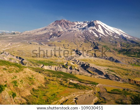 Beautiful mount st helens - stock photo