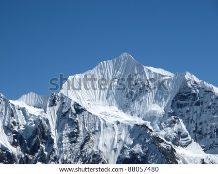 Beautiful mountain in the Himalayas