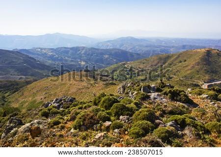 beautiful mountain landscape in Greece  - stock photo