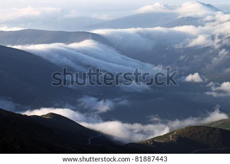beautiful mountain landscape, nature and wildlife photo - stock photo