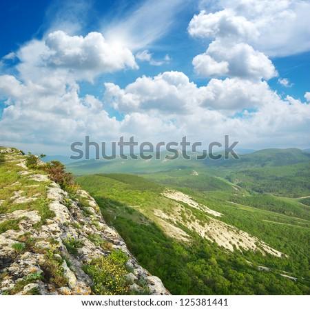 Beautiful mountain landscape. Nature composition. - stock photo
