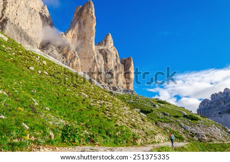 Beautiful mountain landscape, Sexten Dolomites, South Tyrol, Italy