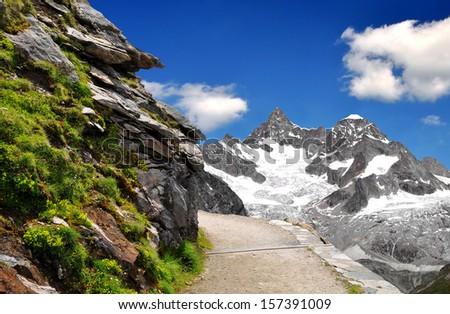 Beautiful mountain Ober Gabelhorn - Swiss alps  - stock photo