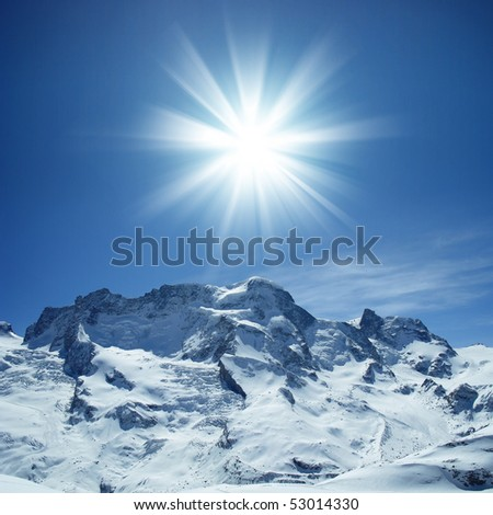 Beautiful mountain, Switzerland - stock photo
