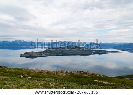 Beautiful mountain view in Norway, Scandinavia - stock photo