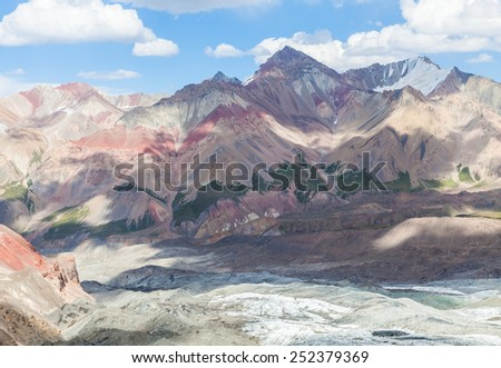 Beautiful mountain view in Pamir region, Kyrgyzstan
