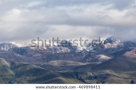 beautiful mountains in Kyrgyzstan