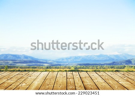 beautiful mountains landscape and sky  - stock photo