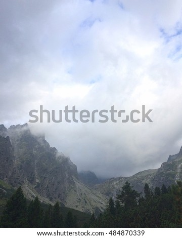 Beautiful mountains landscapes with amazing clouds