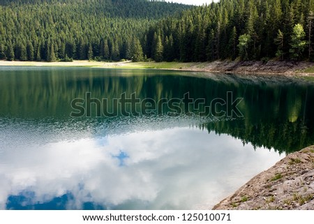 beautiful mountains reflecting in the lake
