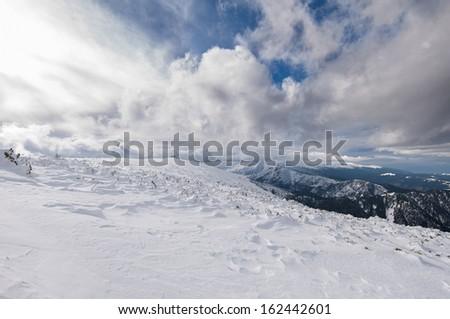 Beautiful mountains view - stock photo