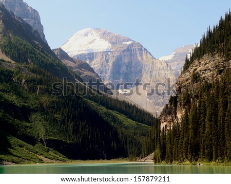 beautiful mountains with clouds and trees