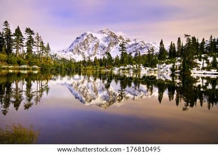 Beautiful Mt Shukshan - stock photo