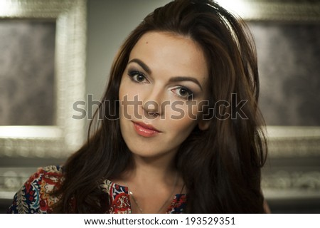 Beautiful multicultural young woman portrait. - stock photo