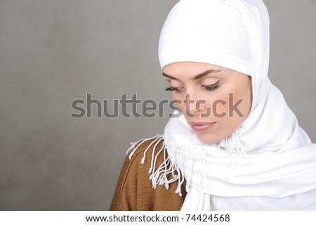 Beautiful Muslim adult woman - stock photo