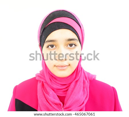 Beautiful Muslim Arab fashionable girl