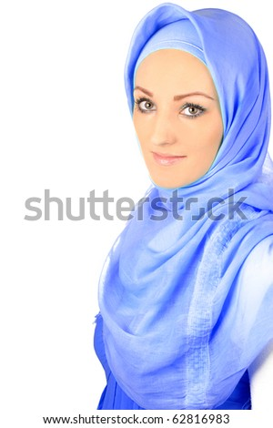 Beautiful Muslim fashion girl - stock photo