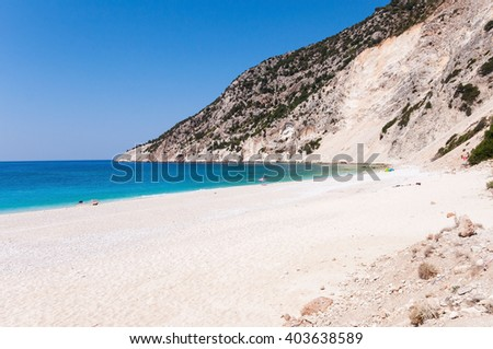 Beautiful Myrtos beach on Kefalonia Island, Greece