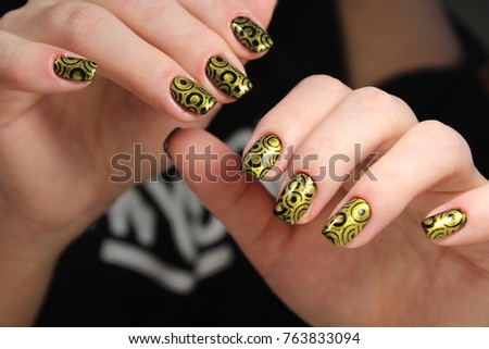 Beautiful Nail Art Manicure Nail Art Stock Photo Edit Now