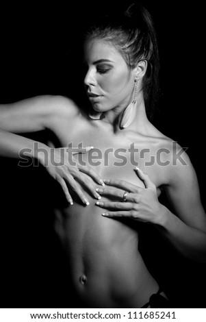 Beautiful naked woman - stock photo
