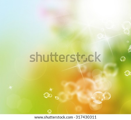 Beautiful nature abstract background - stock photo
