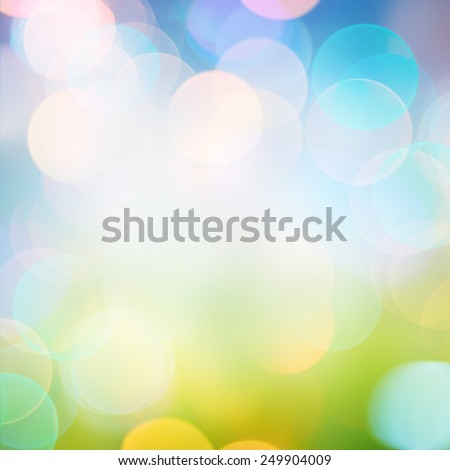Beautiful Nature Bokeh. Blurred background. - stock photo