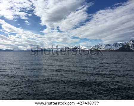 Beautiful nature in the Vesteraalen islands in northern Norway.