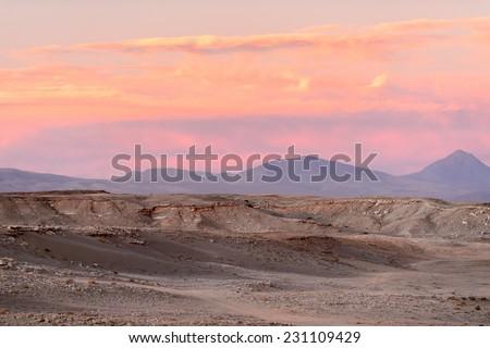 Beautiful nature of of the Atacama Desert, Chile. - stock photo
