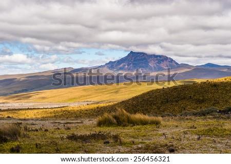 Beautiful nature  of the Cotopaxi National Park, Ecuador - stock photo