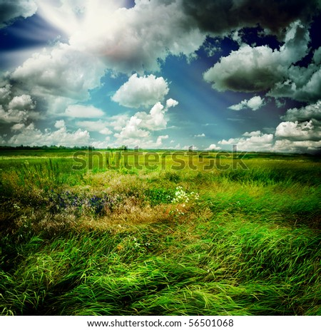 Beautiful Nature Rural Landscape - stock photo
