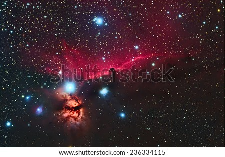 Beautiful Nebula and Deep sky Object, Head Horse Nebula in the constellation of Orion.  - stock photo