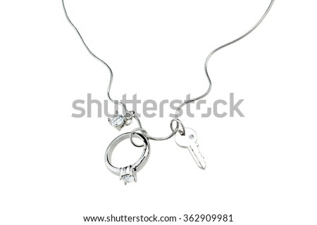 Beautiful necklace isolated on white