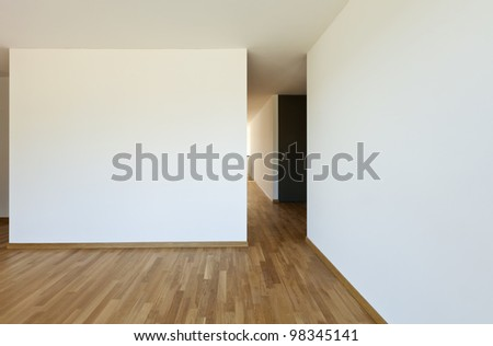 beautiful new  apartment, interior, empty room - stock photo