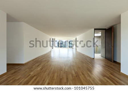 beautiful new apartment, interior, open space - stock photo