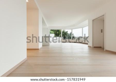 beautiful new apartment; modern interior - stock photo