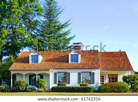 Beautiful New Home - stock photo