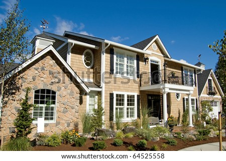 Beautiful New Home - stock photo