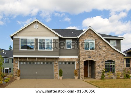 Beautiful New Home Exterior - stock photo