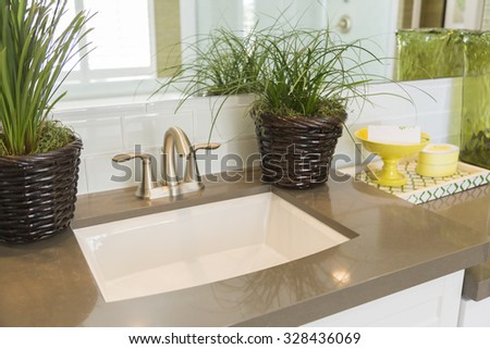 Beautiful New Modern Bathroom Sink  Faucet  Subway Tiles and Counter. Bathroom Sink Stock Photos  Royalty Free Images  amp  Vectors