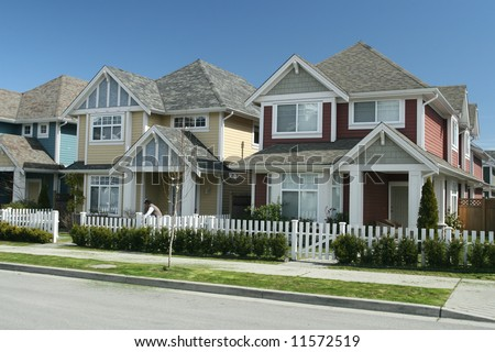 Beautiful New Single Family Houses - stock photo