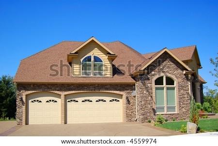 Beautiful New Suburban Home - stock photo