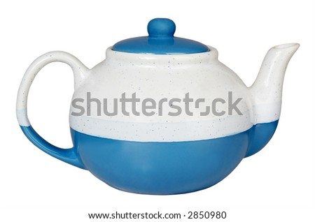Beautiful new teapot on a white background