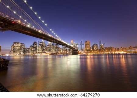 Beautiful New York City skyline at night