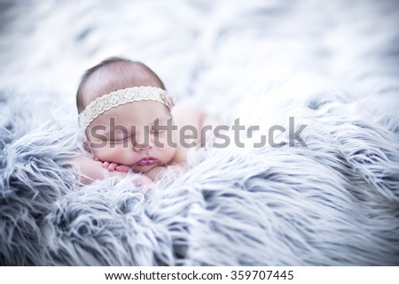 Beautiful Newborn girl  - stock photo