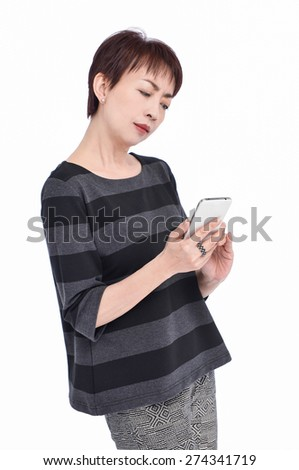 beautiful nice woman talking on cell phone - stock photo